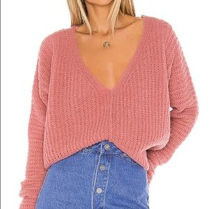 NWT Free People Moonbeam Sweater Pink XS $128